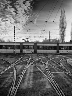 Tram Crossing. Warsaw, Poland, 2011