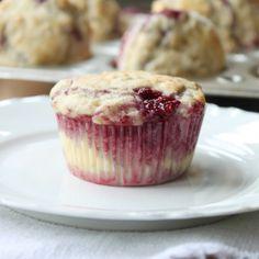 Raspberry Banana Oat Muffins