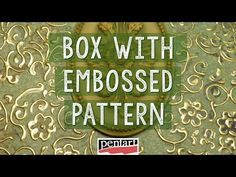 Dombormintás doboz // Box with embossed pattern Techno, 1, Diy Crafts, Youtube, Pattern, Mixed Media, Ideas, Decoupage On Wood, Craft Videos