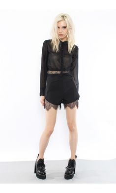 Lacey Days Shorts In Black - Young Hungry Free