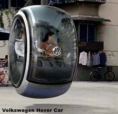 This Volkswagen hover car pictured in Chengdu, China, makes use of a magnetic field generated from the area's natural mineral deposits.