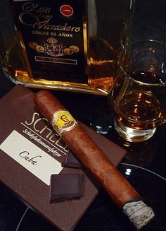 The flavour... Cuban Tobacco... The taste... Aged honey coloured brown Rum... The place... The library of course....!