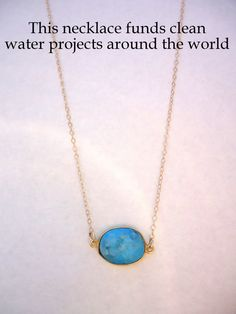 Turquoise Water Drop Necklace by WafflesandHoney on Etsy, $40.00