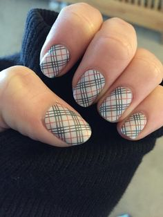 Burberry inspired nails! http://www.terriv.jamberrynails.net/product/upper-east-side-glossy#.VRWfu7l0y70 #UpperEastSideJN