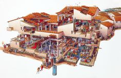 Exploded view of a Roman Villa