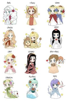 Chibi Zodiac by ~Louna-Ashasou on deviantART I want to make and wear the Taurus ensemble. It's adorable.