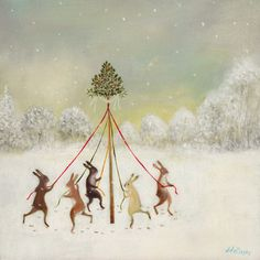 """the litus gallery - Etsy  """"The Winter Dancers"""""""