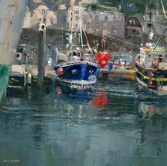 Sarah Beth, Newlyn by British Contemporary Artist Rex PRESTON