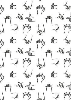 Hands pattern by Saskia Pomeroy for Topman
