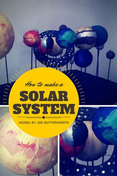How to make a model of the solar system: a step-by-step tutorial with pictures.