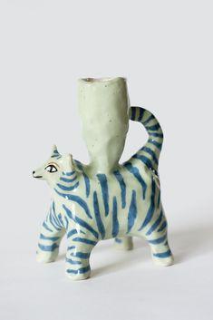 Tiger candle holder mint 1