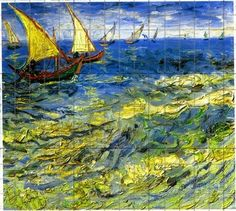 1050 Paintings by Vincent VanGogh to which a faint grid has been added for the use of art students seeking to recreate the great painter's styles and forms.