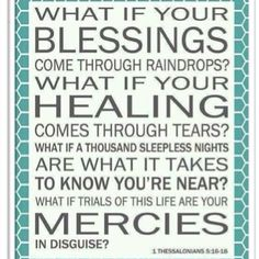 "The song ""Blessings"" by Laura Story (based on this scripture) really helped me through my miscarriage."