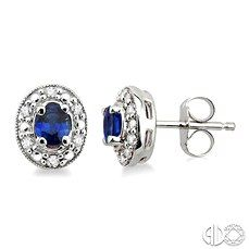 Sapphire and Diamond Earrings. A great gift for a September Birthday!