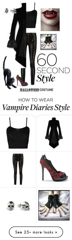 """""""vampire costume"""" by samaramahone1d on Polyvore featuring WearAll and Kasun"""
