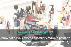 Skincare Challenge #5   Throw out all your expired skincare & makeup products!   #skincarechallenge #loveurskin