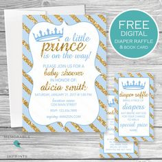 graphic relating to Free Printable Prince Baby Shower Invitations named 105 Easiest Child Shower Invites shots within 2017 Printable