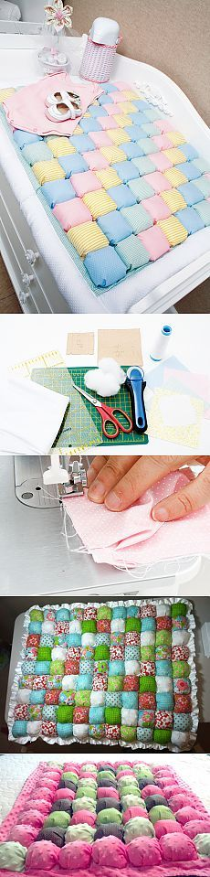 """Как сшить детское одеяло в технике """"Bubble Quilt"""""""