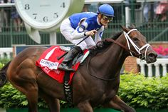 Tepin (Bernstein) and jockey Julien Leparoux win the Churchill Distaff Turf Mile (Gr II) at Churchill Downs 5/7/16. Trainer: Mark Casse. Owner: Robert E. Masterson