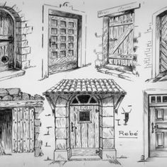 1 million+ Stunning Free Images to Use Anywhere Architecture Concept Drawings, Historical Architecture, Pencil Art Drawings, Art Sketches, Architecture Religieuse, Building Drawing, Medieval Houses, Free To Use Images, House Drawing