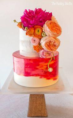Repost...Featured Cake: The Pastry Studio; www.thepastrystudio.com; Wedding cake idea.