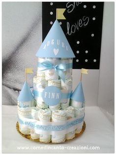 Diaper cake - torta di pannolini - idea regalo nascita battesimo - come d'incanto - carlinifd