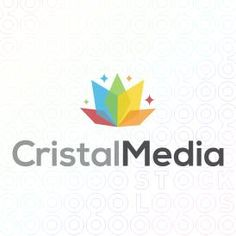 Logo Design of a colorful abstract flower design For Sale On StockLogos | Cristal Media logo