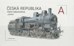 "Stamp: The steam locomotive ""THE SEVEN"" (Czech Republic) (The World on the Rails) Mi:CZ 929,POF:CZ 931"