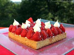 Tarte aux fraises et sa chantilly au mascarpone - Meilleur du Chef