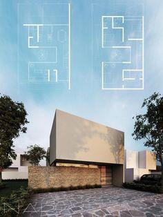 6030 best modern villas images in 2019 Minimalist House Design, Minimalist Architecture, Modern Architecture House, Facade Architecture, Residential Architecture, Modern House Design, Villa Design, Facade Design, Exterior Design