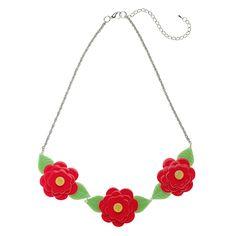 **VERY RARE, LAST ONE!** Limited edition Erstwilder Rosalita's Garden necklace by Louisa Camille. $39.95