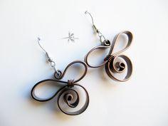 Boucle d'oreille 3d perles