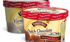 TURKEY HILL ICE CREAMS DO NOT CONTAIN ANY ANIMAL BY-PRODUCTS OR ALCOHOL. These would be halal and vegetarian.