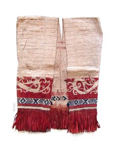 Dayak (tree bark) tribal vest, ca.1915 #Indonesia #dayak