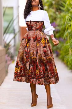White Fashion Casual Regular Sleeve Long Sleeve O Neck Patchwork Dresses_DRESSES_KnowFashionStyle | Wholesale Shoes,Wholesale Clothing, Cheap Clothes,Cheap Shoes Online. - KnowFashionStyle.com Short African Dresses, Latest African Fashion Dresses, African Dress Styles, Best African Dress Designs, African Style, African Inspired Fashion, African Print Fashion, Modern African Fashion, Modern African Clothing