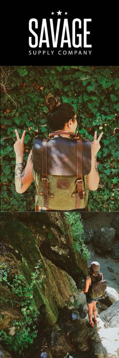 """Introducing, """"Leo"""" our handcrafted backpack/rucksack that is skillfully created…"""