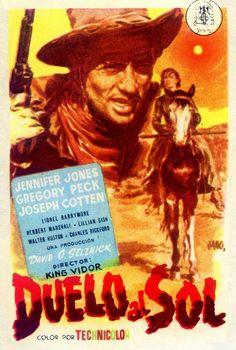 Duelo al Sol by Jano Charles Bickford, Joseph Cotten, Lillian Gish, Jennifer Jones, David, Movie Posters, Sun, Janus, Film Posters