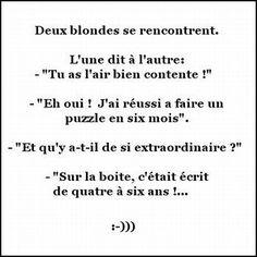 Humour de blonde