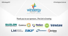 We would like to extend our sincere thanks to our Sponsors that have invested in our vision and the list is growing day by day. #Windergy2017 #Wind4All #RenewableEnergy #Here2Stay #WindPowerForever