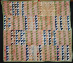 1870's KALEIDOSCOPE CRIB OR DOLL QUILT TOP PIECED HAND SEWN COTTON PATCHWORK  #Handsewn, eBay, oldthreads