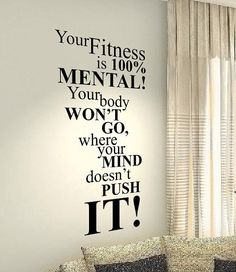 Your Fitness Gym Fit Motivational Life Family Home Love Quote wall vinyl decals stickers Art Decor Bedroom Home Happiness Wall…