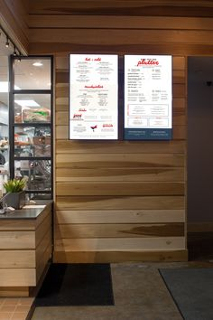 Digital menu board design and interiors for Smoke & Duck Sauce in Atlanta, Ga - restaurant branding, fast casual