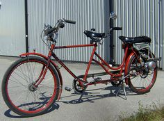 tandem bike with small engine