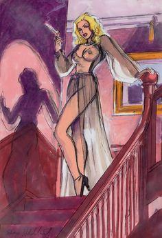 """The Black Widow"" study, American Beauties series, Jean Leon, Pin Up, Illustration Sketches, Princess Zelda, Disney Princess, Documentary Film, Card Games, Childrens Books, Illustrators"