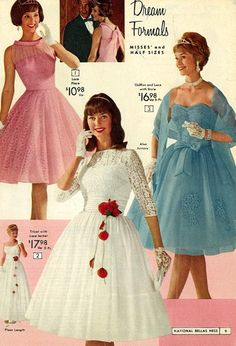 Vintage Fashion and Glam Vintage Prom, Mode Vintage, Vintage Dresses, Vintage Outfits, 1950s Dresses, Vintage Clothing, Lace Dresses, 60s And 70s Fashion, Retro Fashion
