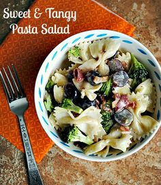 Sweet & tangy pasta salad  Suzanne @you-made-that.com