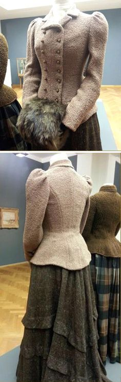 Woolen costume ca. 1900. From an exhibit of Edwardian clothing at the Gemeente Museum, the Hague, via Walking Through History with Jasper & Angela