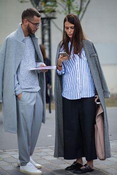 On the street at Paris Fashion Week. Photo: Chiara Marina Grioni/Fashionista
