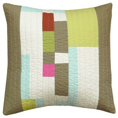 """This and That"" modern quilted pillow cover, $53 from bperrino"