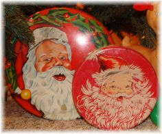 Vintage Santa Claus Tins